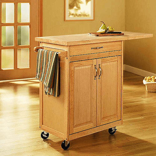 Mainstays kitchen island cart multiple finishes