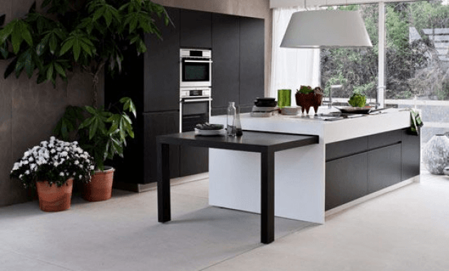 Nice decoration Kitchen Island with Pull Out Table
