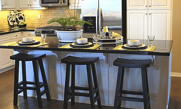 Nice decoration counter top for kitchen island with bar stool seating