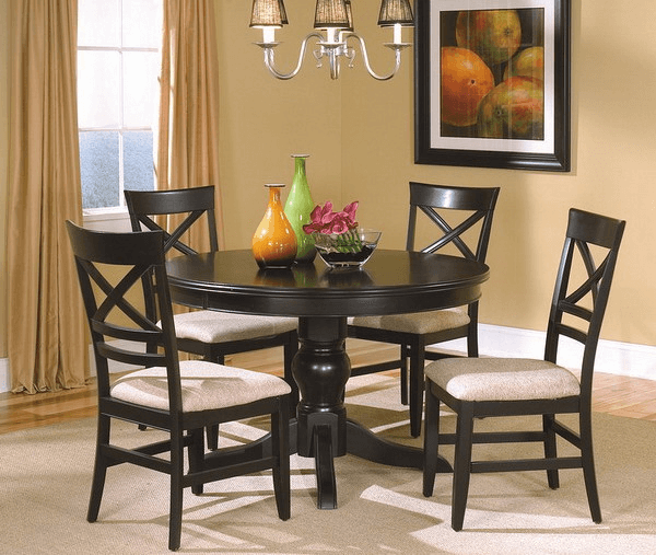 Five simple tips how to decor dining room table for Round dining room table centerpieces