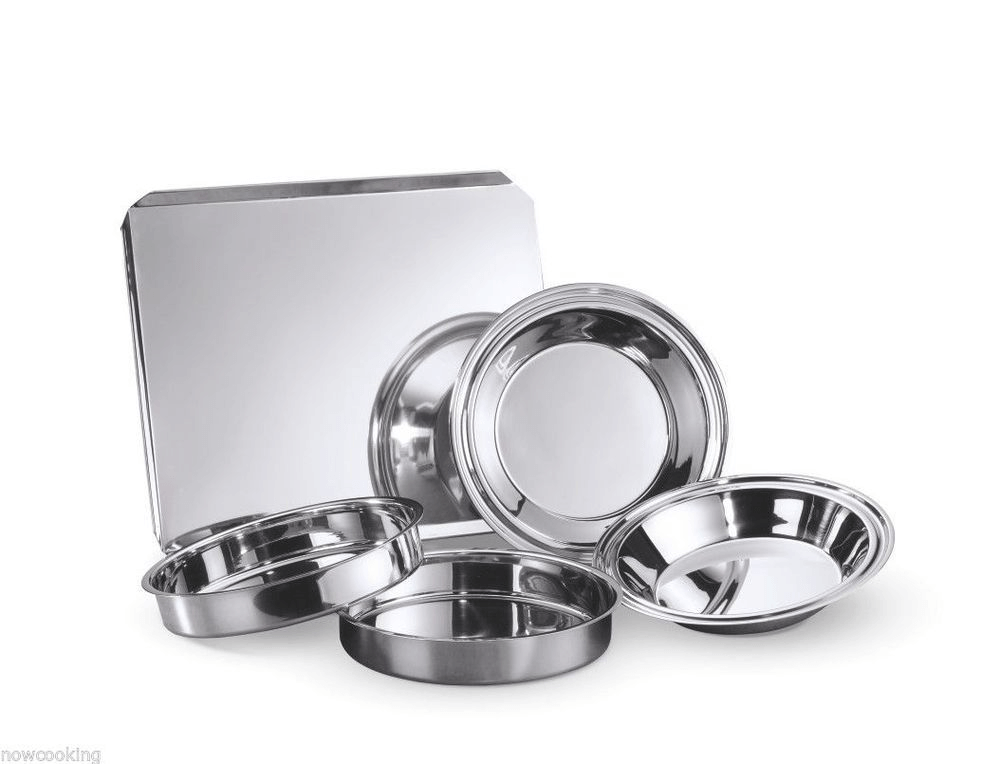 Stainless steel baking pan set