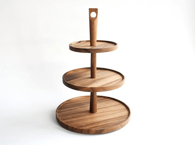 Traditional Wooden pastry stand