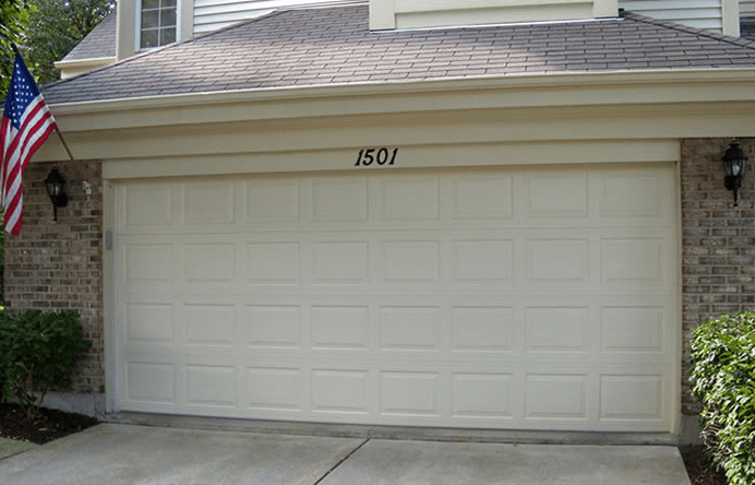 Traditional short garage steel door panel
