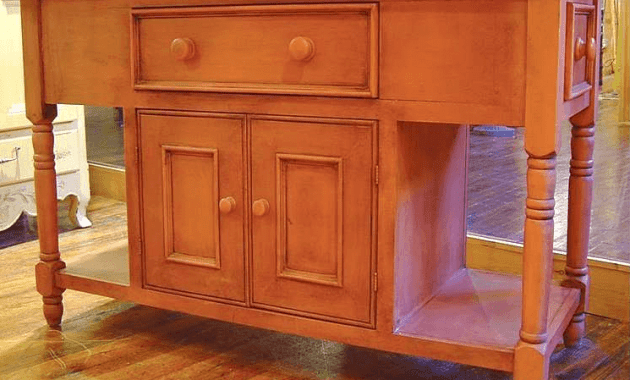Unfinished kitchen island base cabinets