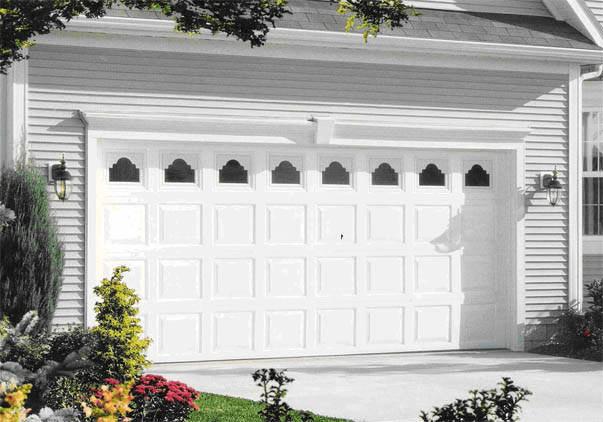 White Garage door designs ideas for 2 car