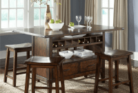 Wood Kitchen Island Bar Table with cabinet