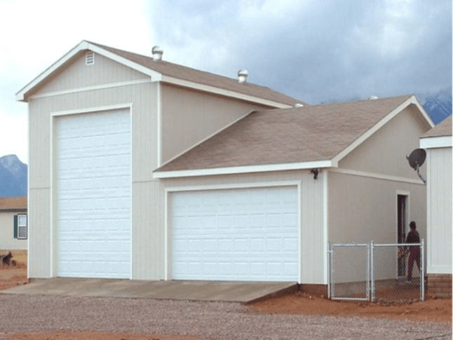 Spacious living garage door sizes for rv for Rv garage door dimensions