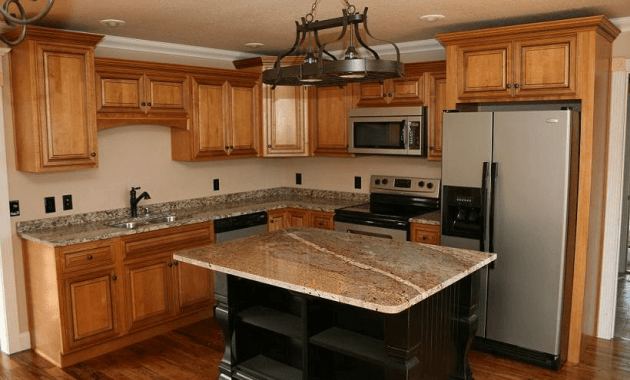 10x10 kitchen cabinet with island granite counter top