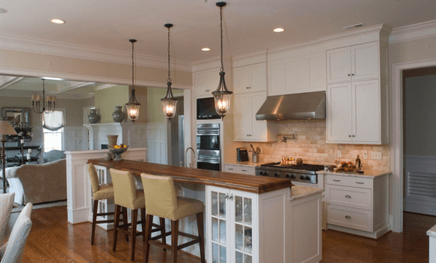 3 pendant kitchen lighting over island