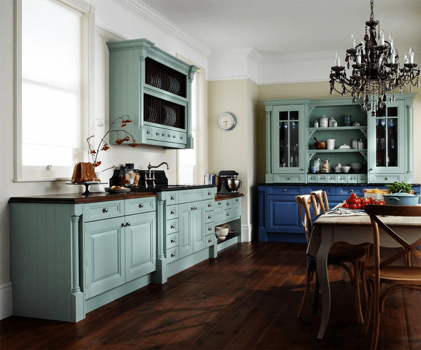 Blue paint kitchen cabinet glaze colors rustic design