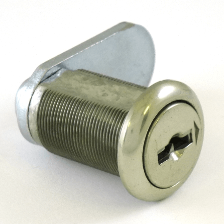Brass Drawer and Cabinet Keyed Cam Lock