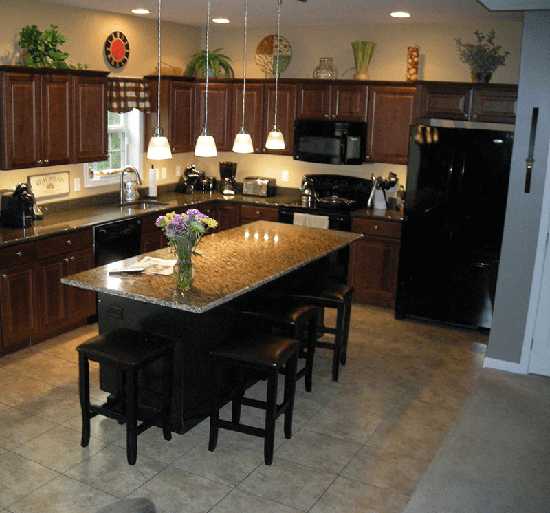 How to get an ideal kitchen island overhang for Granite overhang without support