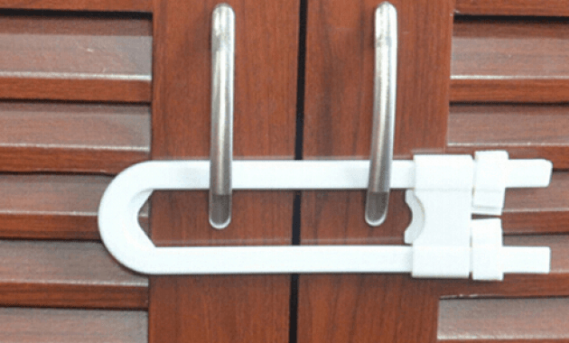 Cabinet door lock child safety