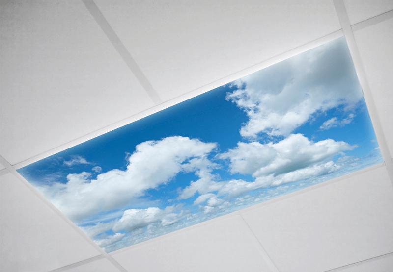 Cloud fluorescent light covers
