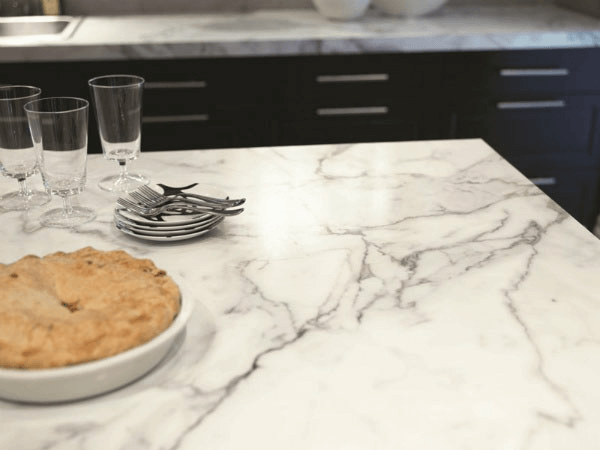 Counter top colors with faux carrara marble painting