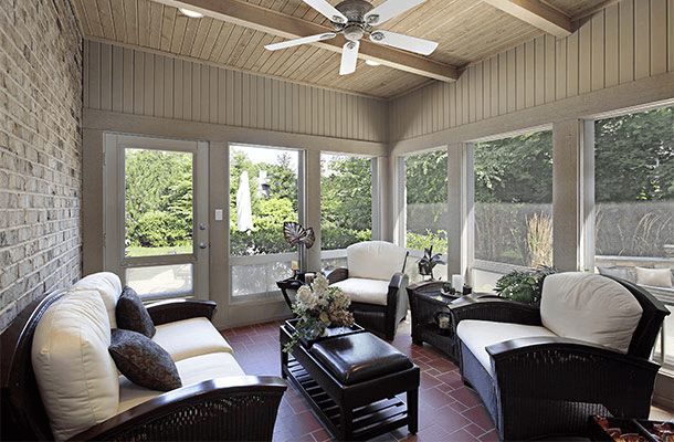 Enclosed porch furniture