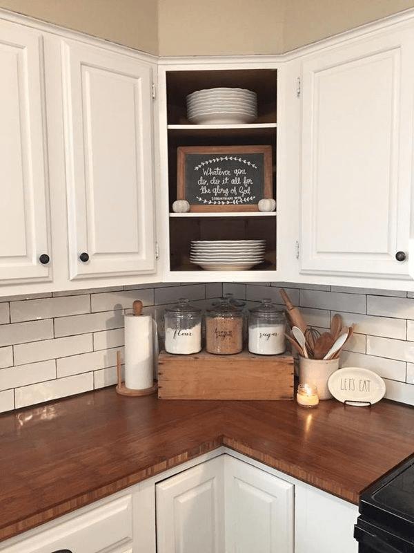 Farmhouse kitchen countertops decor ideas