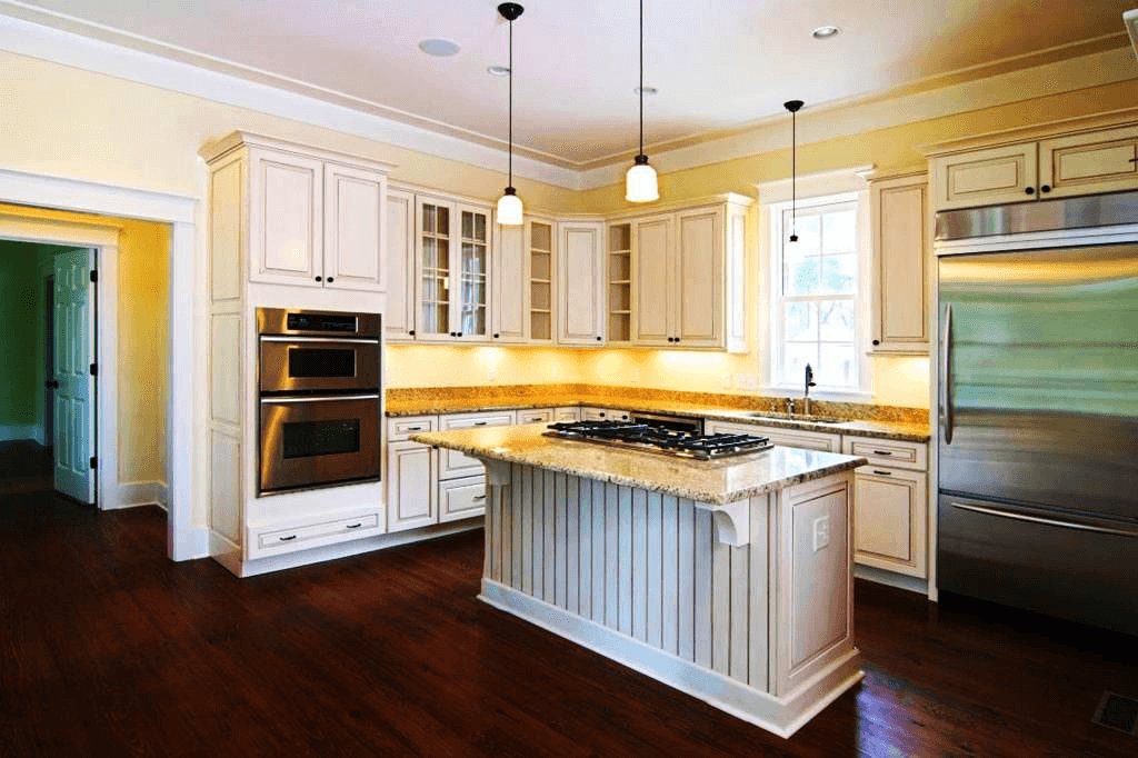 Get antique impression with Kitchen cabinet chalk paint white color ideas