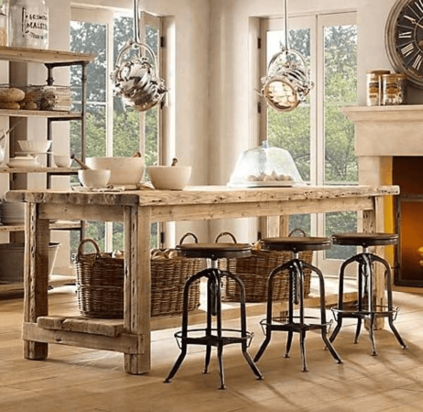 Homemade Kitchen Island Lighting Rustic