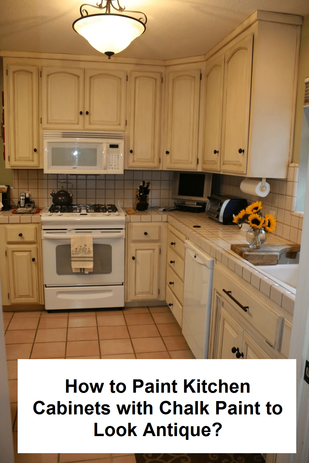 How to Paint Kitchen Cabinets with Chalk Paint to Look Antique