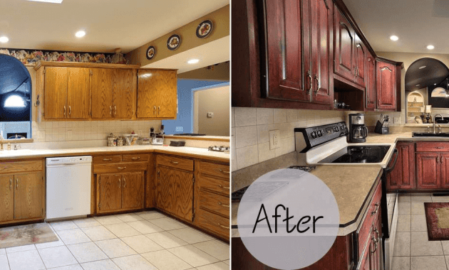 Kitchen Cabinets Refacing Before And After And The Cost