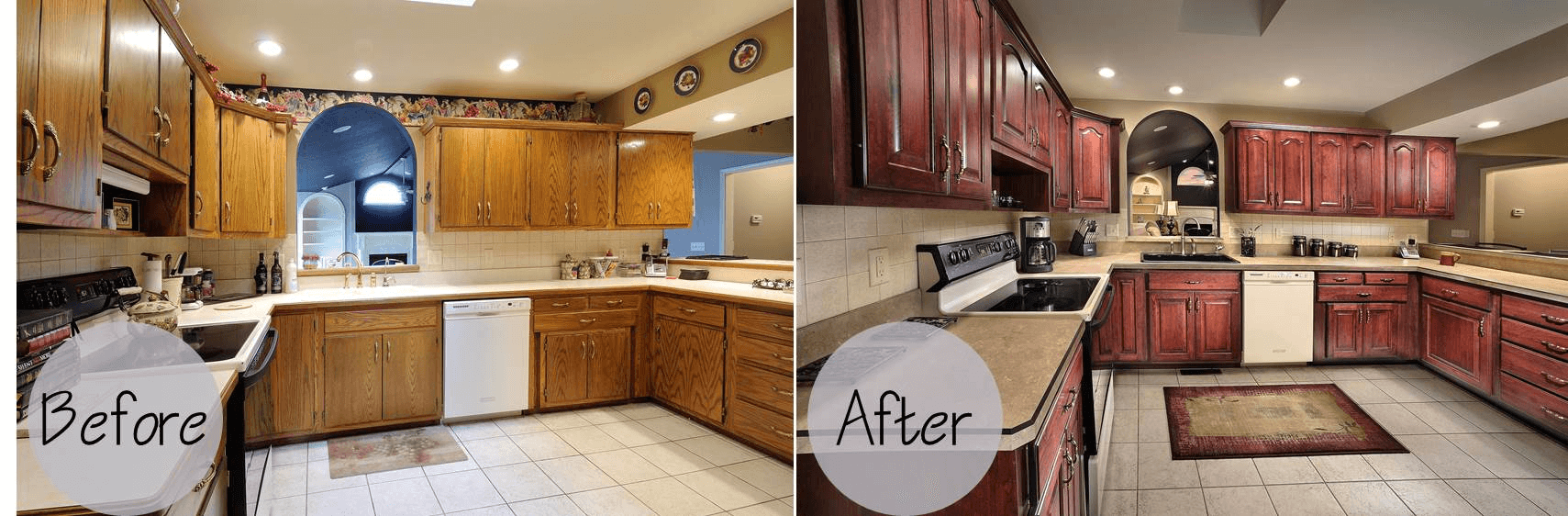 Kitchen Cabinet Refacing Reviews cabinets refacing before and after and the cost