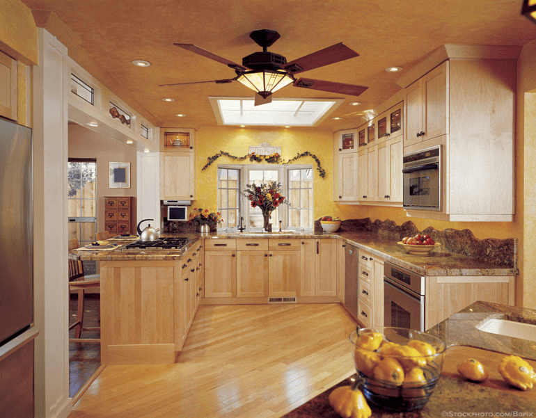 Kitchen Ceiling Fan with Bright Light