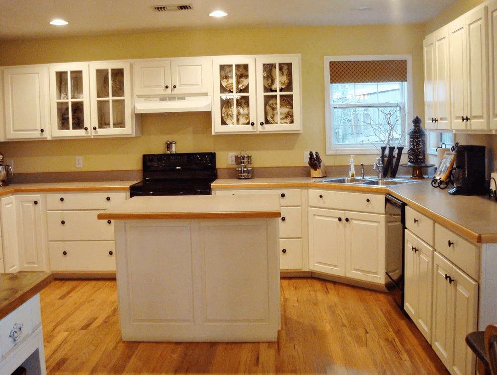 Kitchen without backsplash home design for Kitchen without tiles