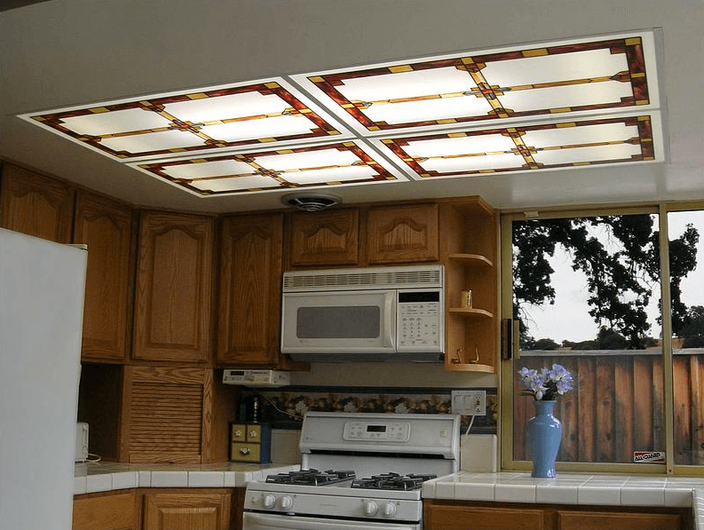 fluorescent kitchen light covers