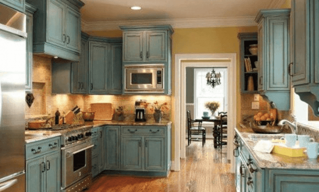 Kitchen cabinet chalk paint duck egg blue