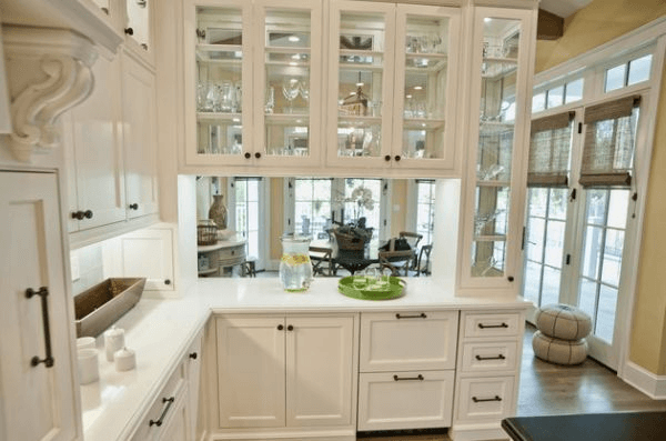 Kitchen cabinet doors with glass fronts
