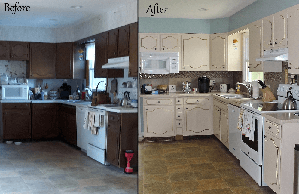 Important factors of kitchen cabinets refinishing cost - Refinish old kitchen cabinets ...