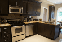 Kitchen cabinet transformation impression with Rust-Oleum refinishing kits