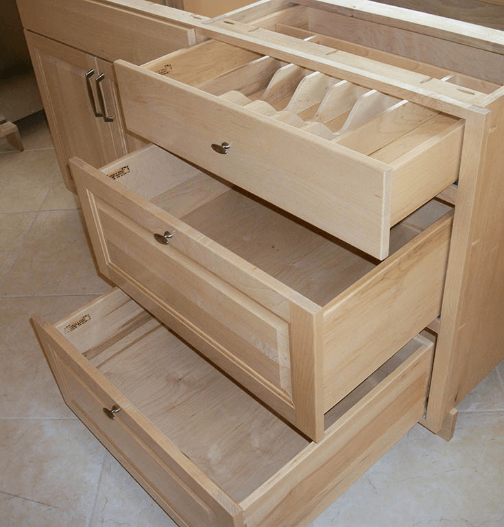 Kitchen cabinets drawers lewis 3 bank Best way to organize kitchen cabinets and drawers