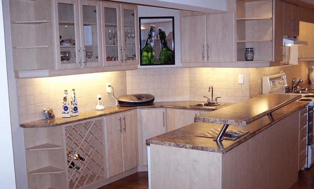 Kitchen counter cabinet corner shelf