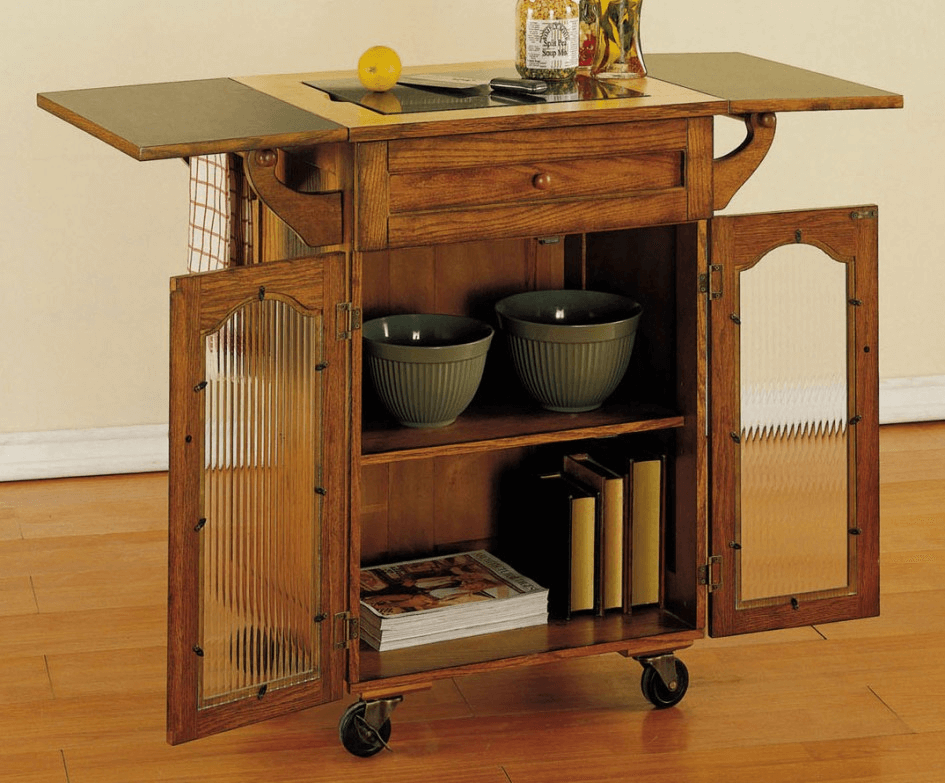 The jaw dropping easiness kitchen island on wheels with for Kitchen islands wheels