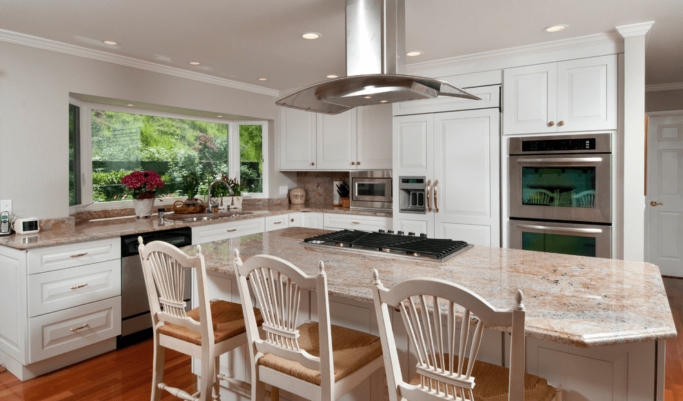 how to install kitchen island hood