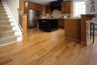 Kitchen wood floor varnishing for make good design appearance