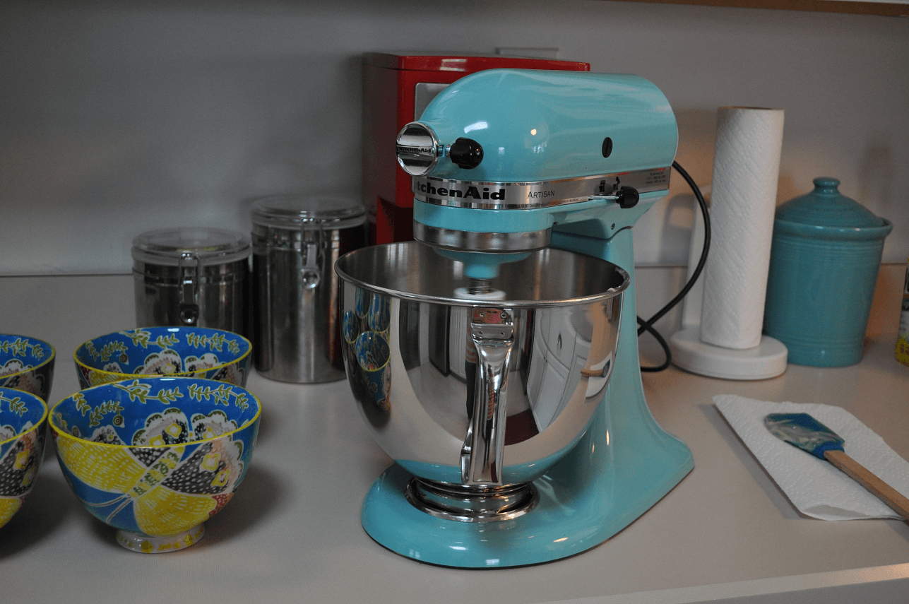 Kitchenaid mixer aqua sky