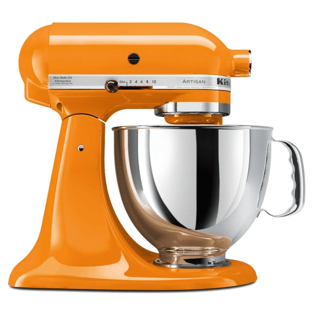 Kitchenaid mixer orange
