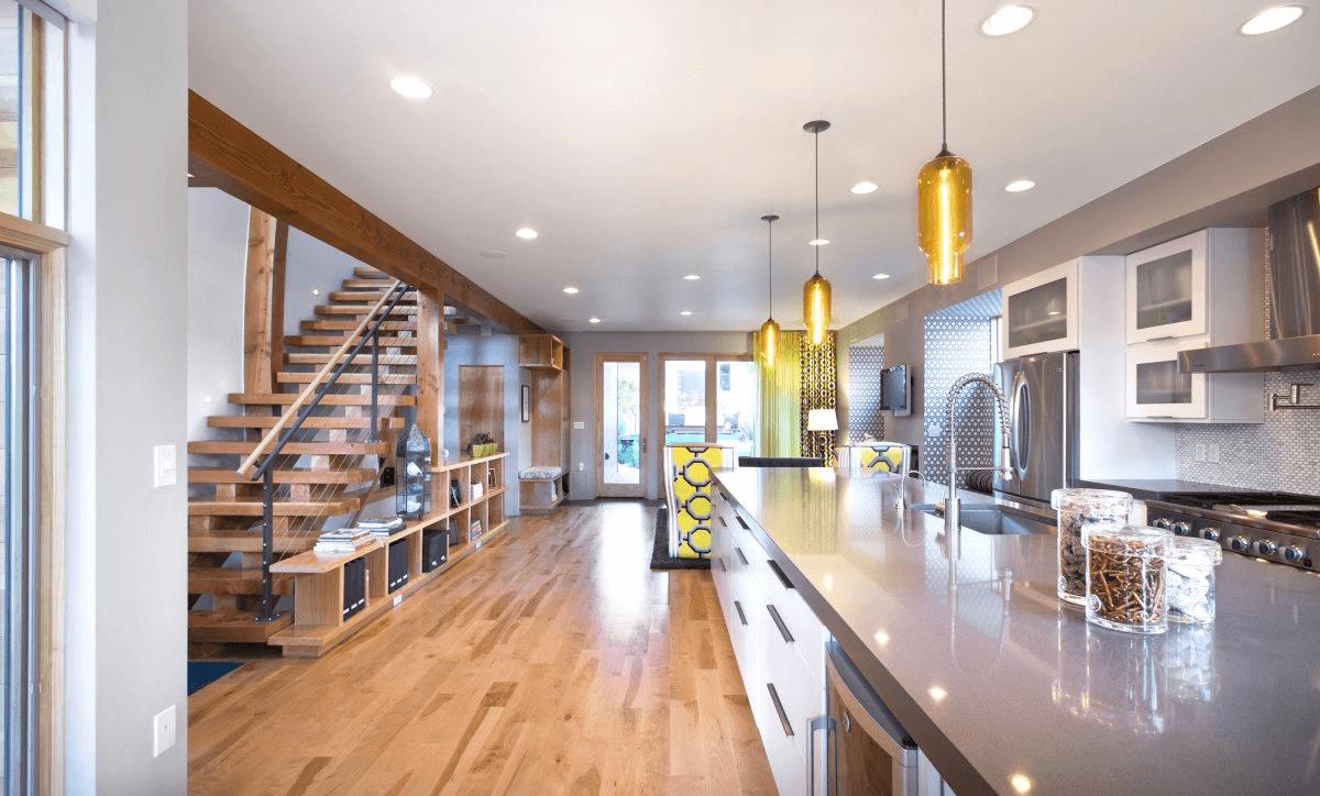 Long Kitchen island pendant lights modern design ideas