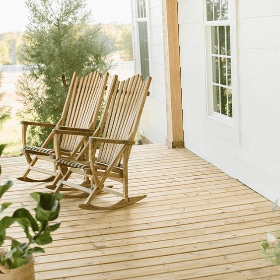 Natural Joanna Gaines rocking chairs