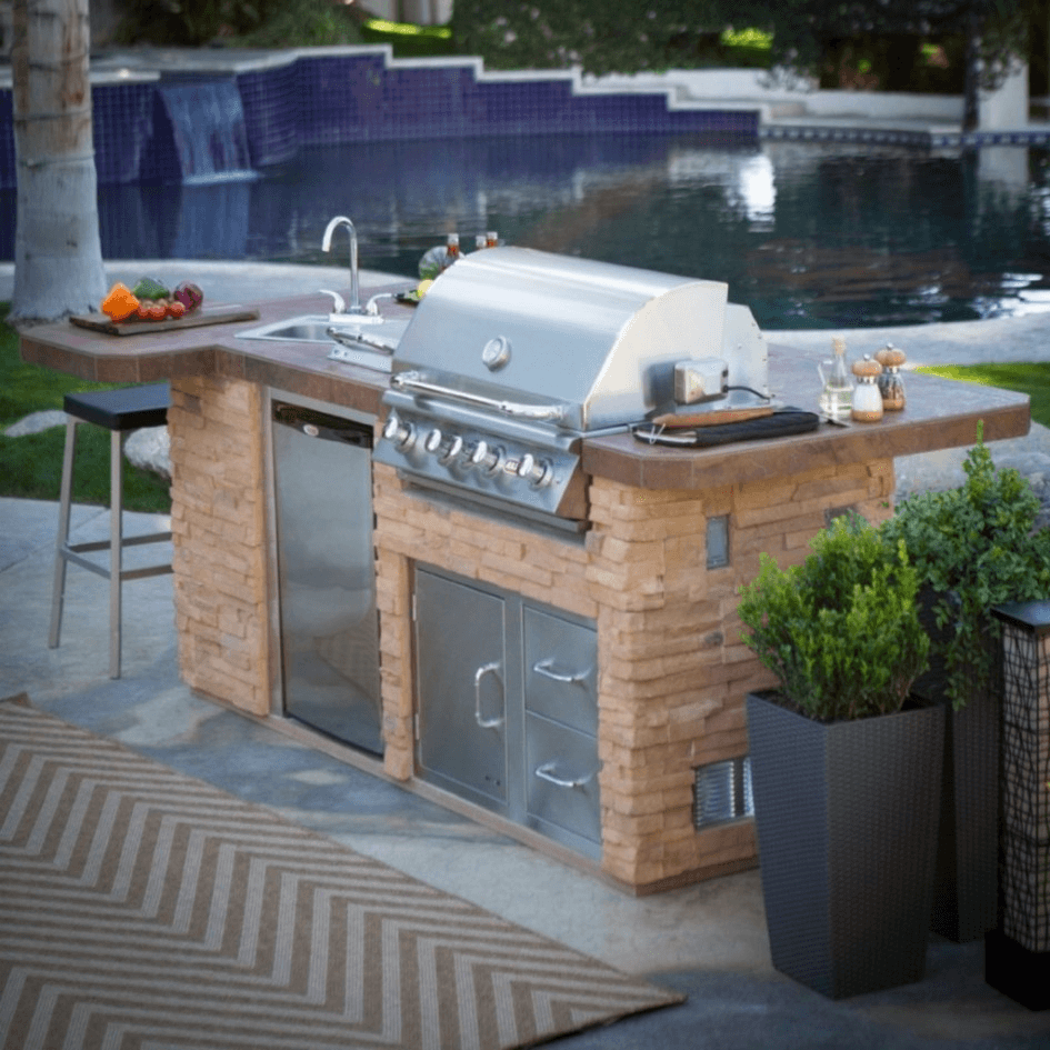 outdoor kitchen island with sink On outdoor kitchen island