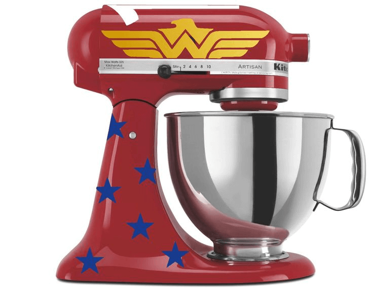 Red wonder women kitchenaid mixer decals