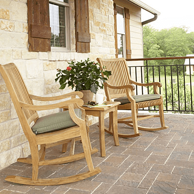 Rocking chairs set table decoration