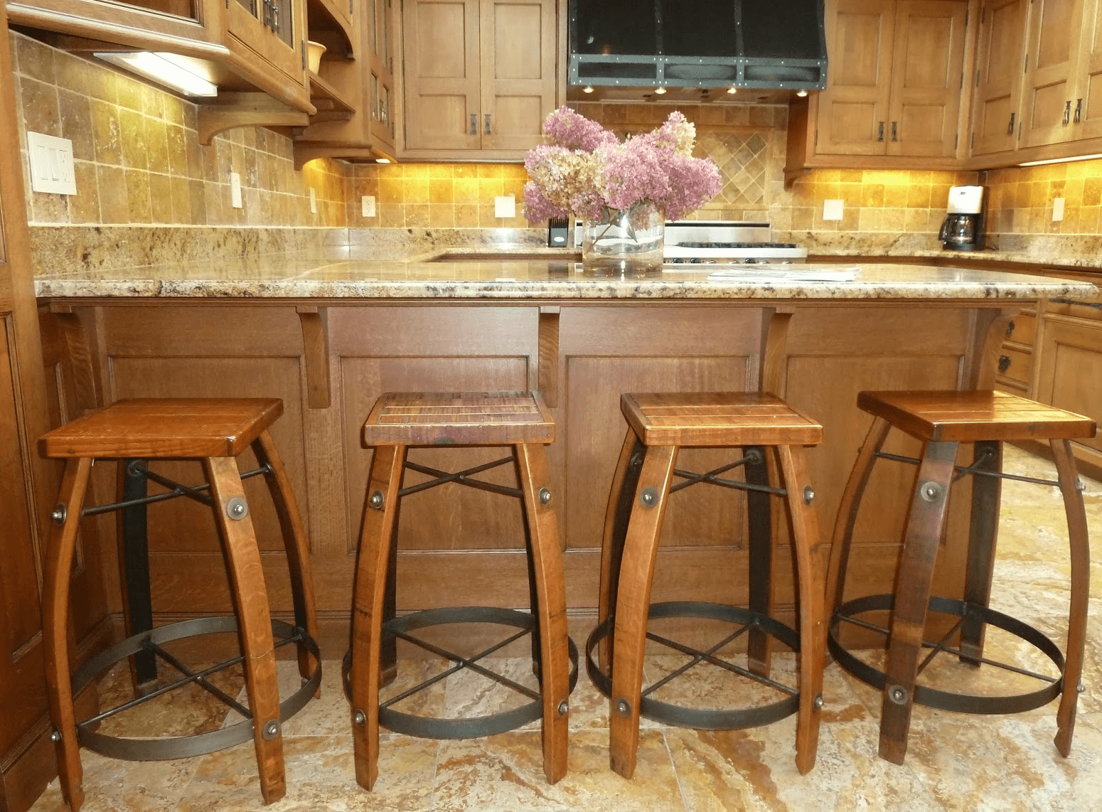 Rustic Kitchen Island Stools
