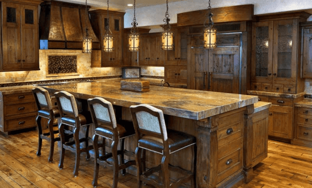 Rustic kitchen island lighting pendant