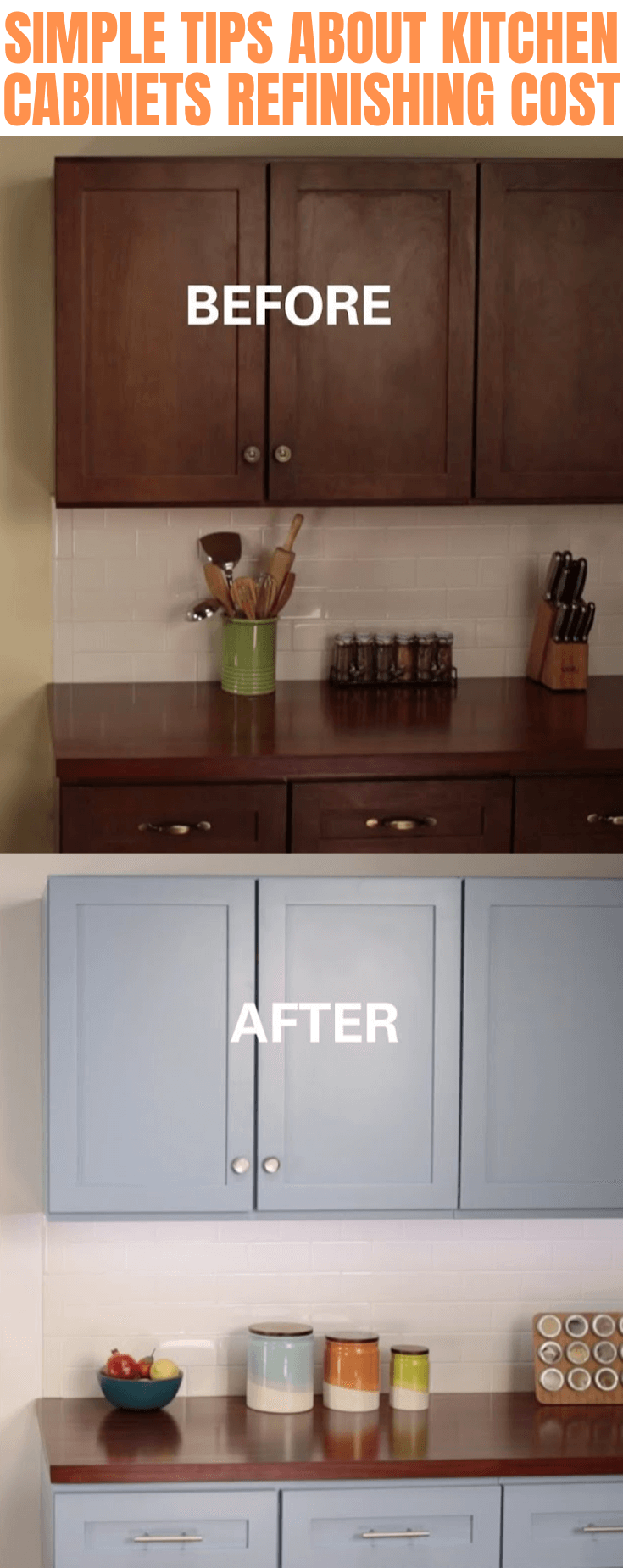 SIMPLE TIPS ABOUT KITCHEN CABINETS REFINISHING COST