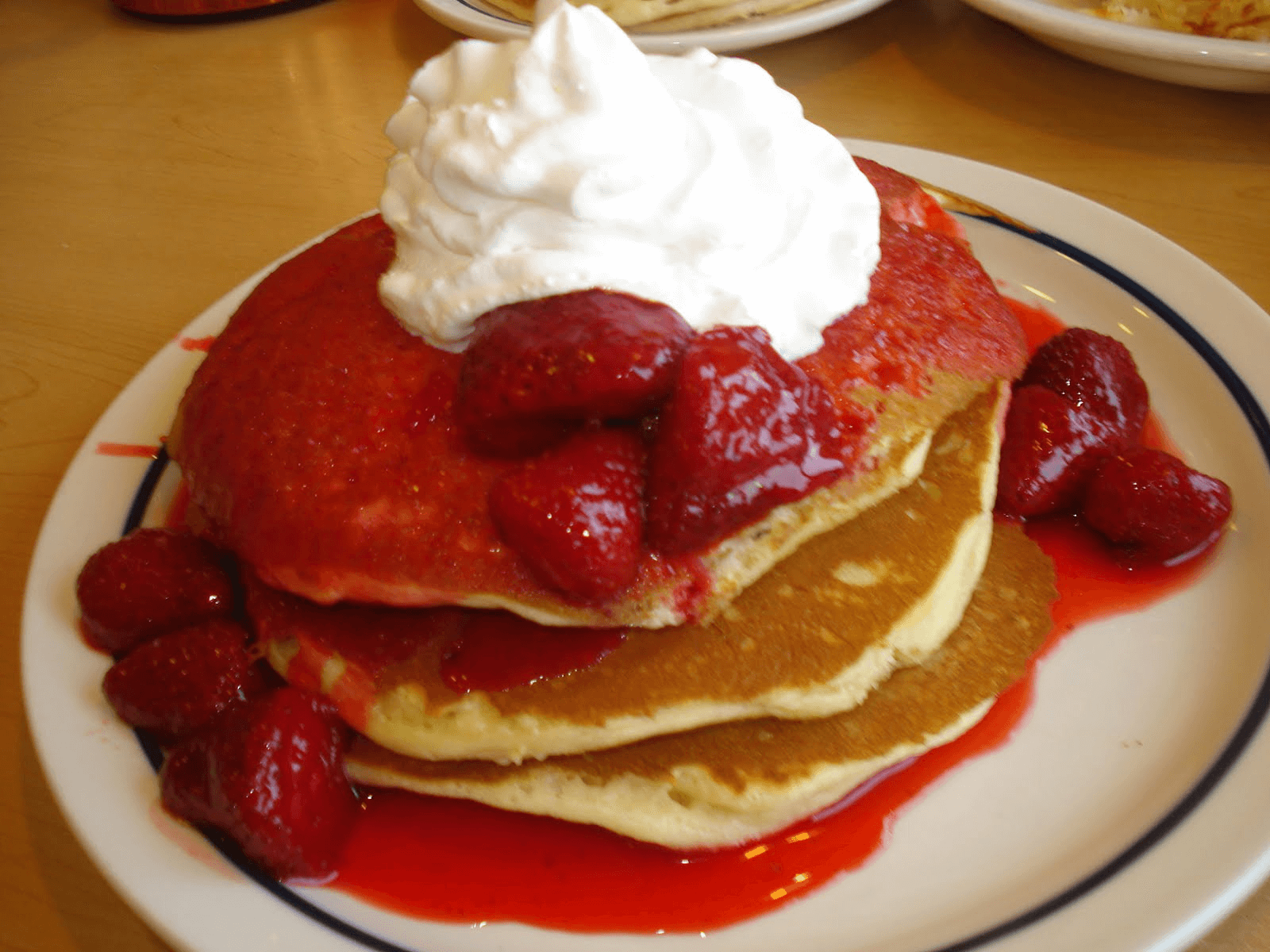 Strawberry cheesecake pancakes ihop