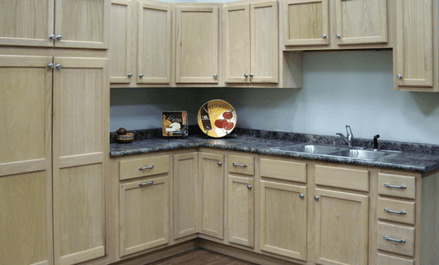 Unfinished kitchen cabinets oak